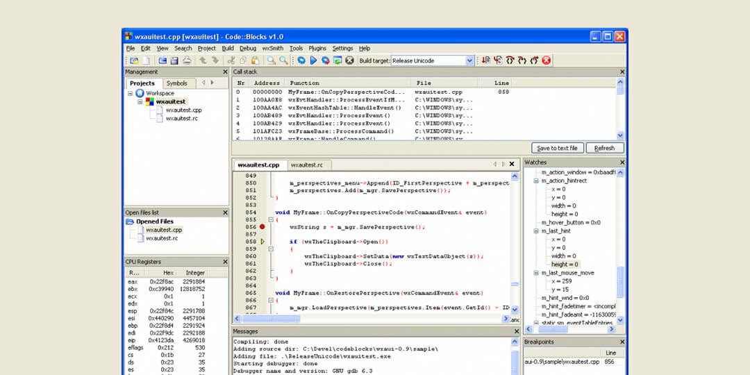code blocks ide for c++