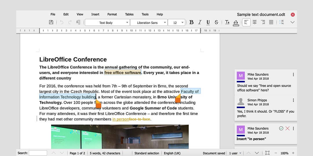 libre office writing app