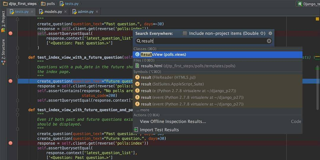 pycharm ide for html
