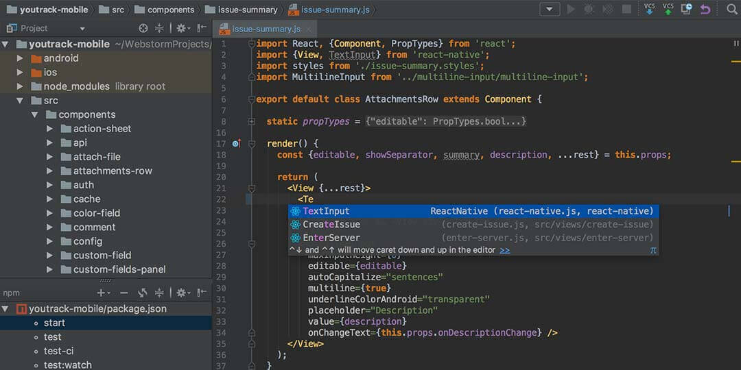webstorm best ide for javascript