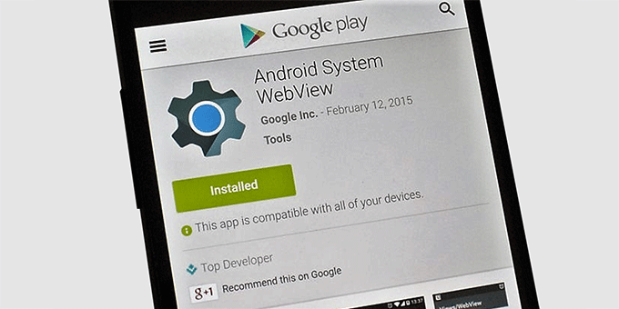 android system webview installed