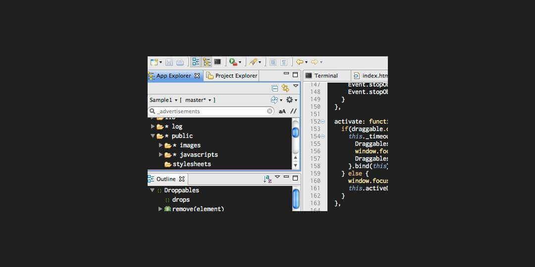 aptana studio 3 best ide for html