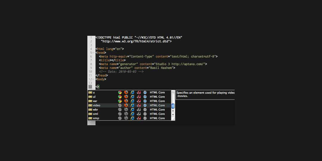 aptana studio 3 ide for html