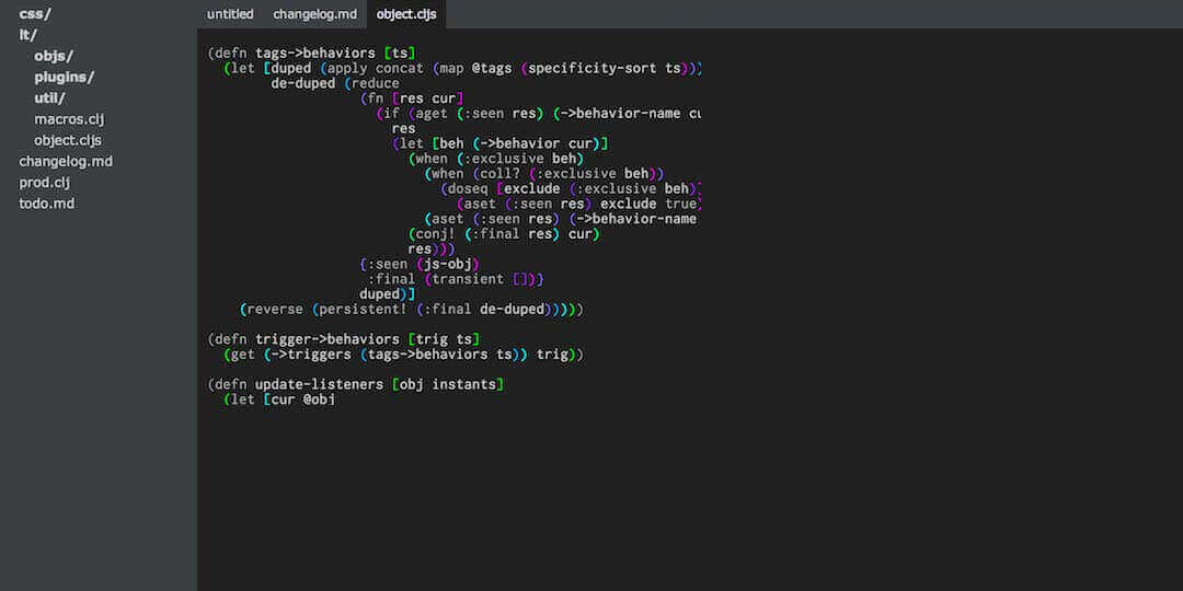 light table best ide for css