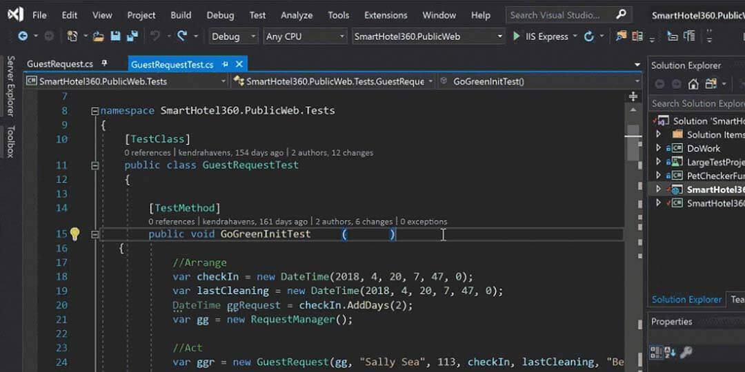 microsoft visual studio ide for javascript
