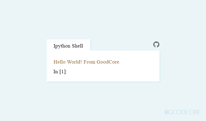 python output