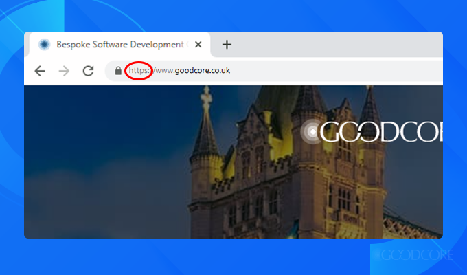 a screenshot of goodcore's web address