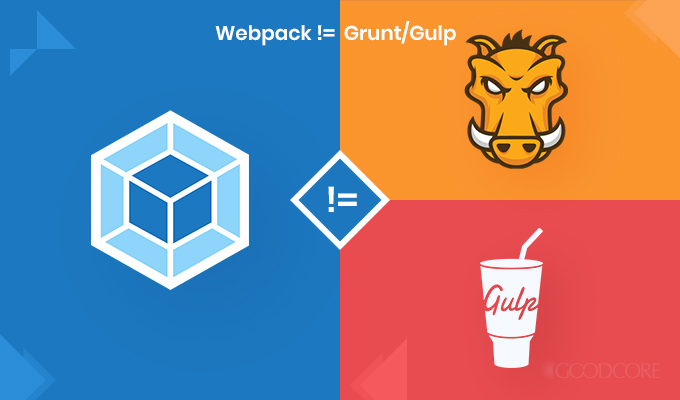 webpack is not the same as gulp or grunt