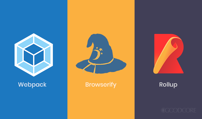 Popular module bundler's webpack, Browserify, and Rollup