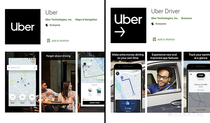 uber app for android devices