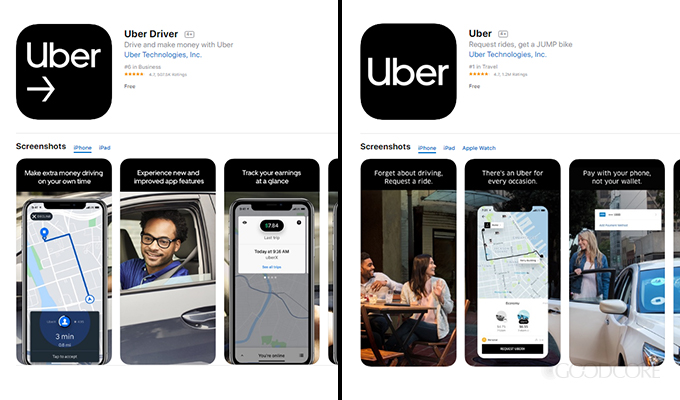 uber app for ios devices