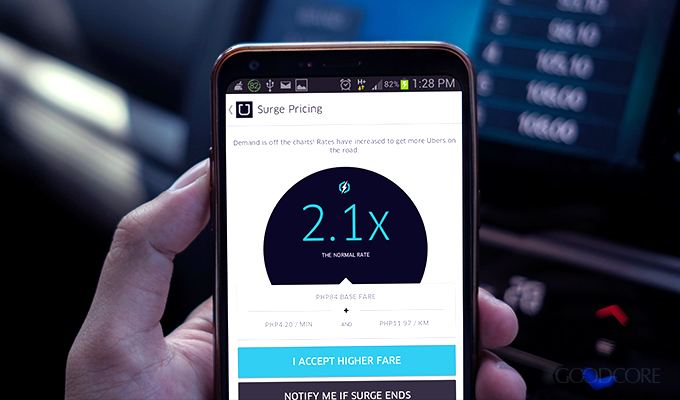 uber business model surge pricing