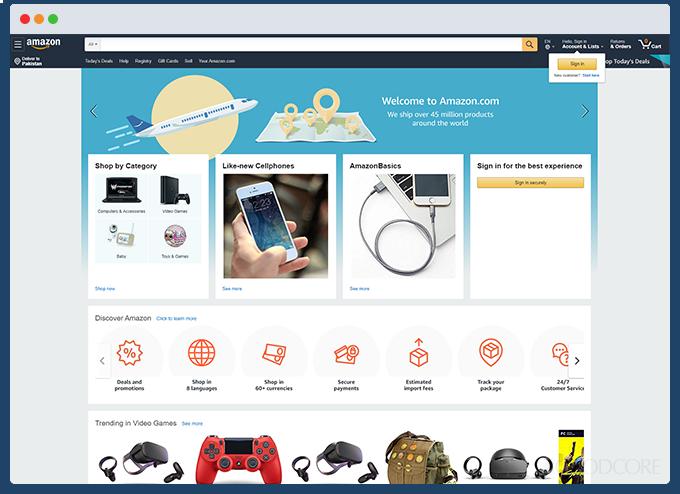 example ecommerce website