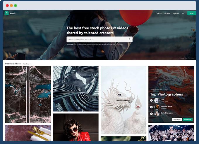 example photo sharing website