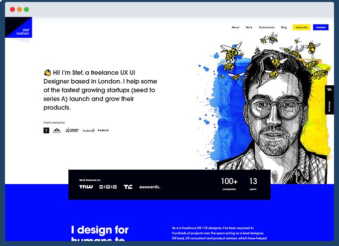 example portfolio website