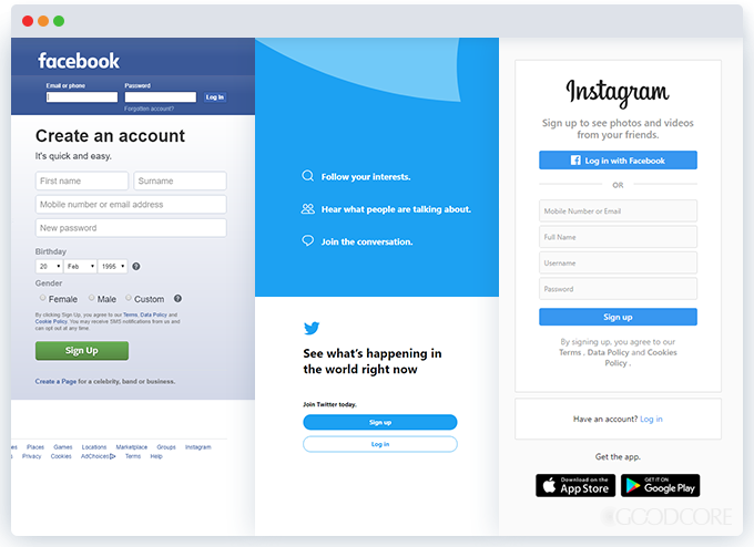 example social networking website