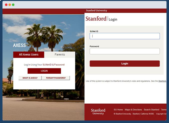 example web portal