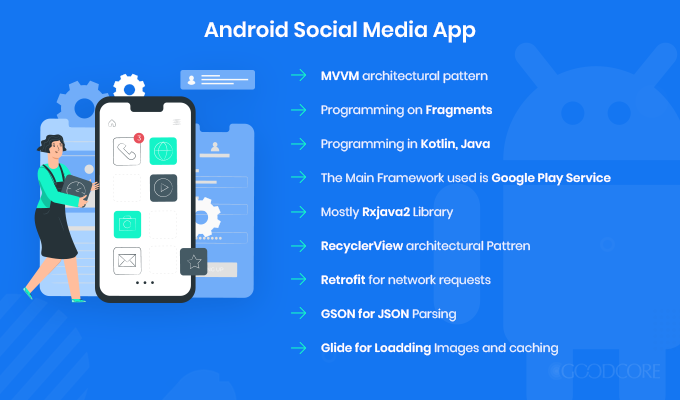how to make a social media app for android